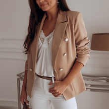 Office Lady Slim Notched Blazer