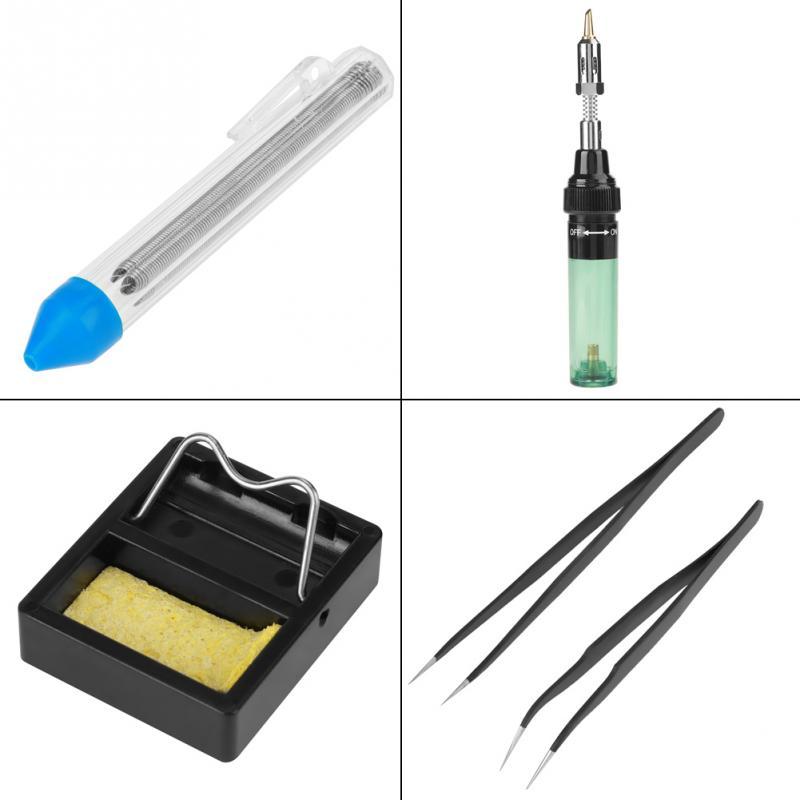 Kit d'outils de soudage de pistolet de torche électrique de coup de fer à souder de Butane de gaz sans fil portatif
