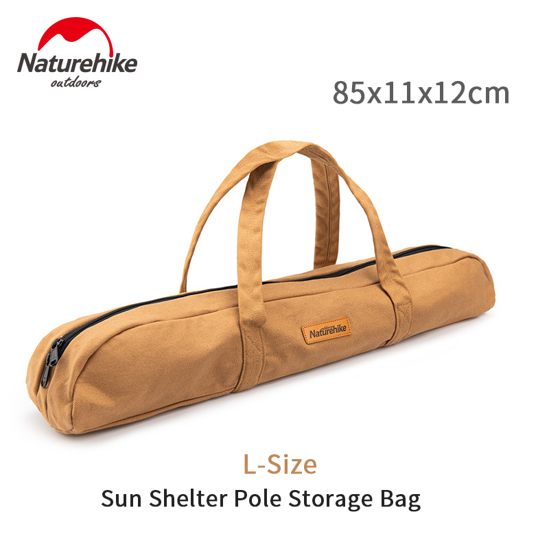 Naturehike Outdoor Sun Shelter Pole Storage Bag Ultralight Portable 16A Canvas Wear-resisting 305G Sundry Bag Tent Accessories