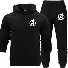 Joker Match Hooded Hoodies Set with Pocket Pullover Warm Autumn Street Boy Cool Avengers Letter Printed Sports Wear