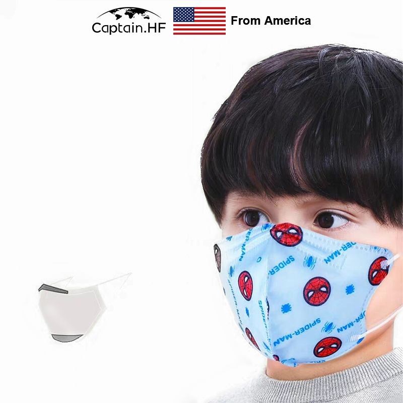 US Captain 1BOX\5PCS Protective Non-Woven Disposable Three-Layer 3D Masks With Disney Cartoons For Children
