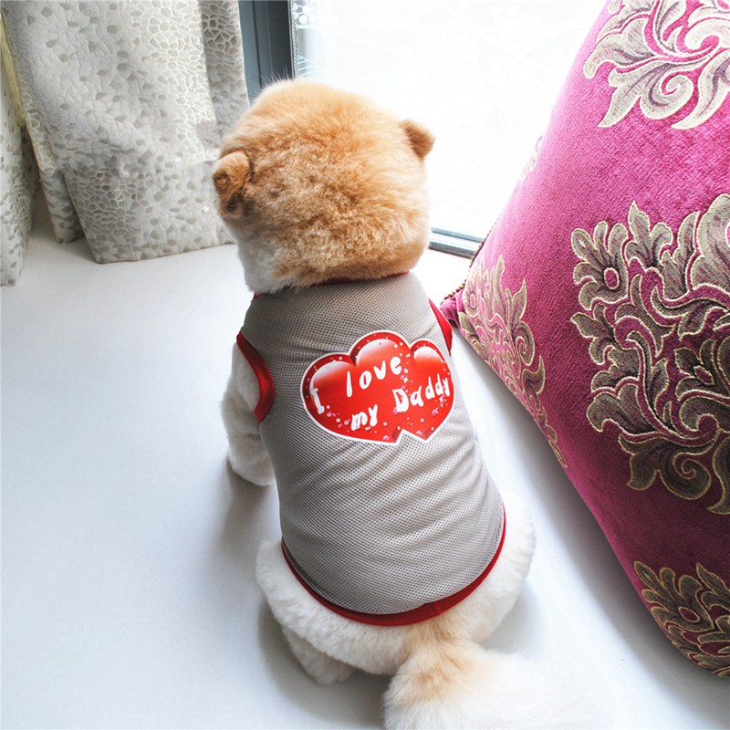 Summer Dog Clothes for Small Dog Clothing Pet Mesh Breathable Vest for Dogs Jacket Clothing for Chihuahua Pet Puppy Costume 4