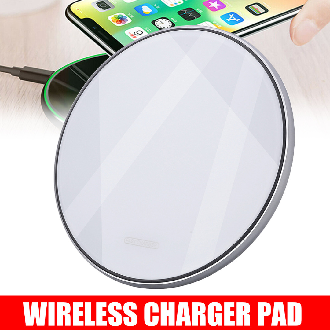 For iphone 11 Pro Max 10W/15W Qi Wireless Charger Fast Charging Pad Smart Mobile Cell Phone Chargers