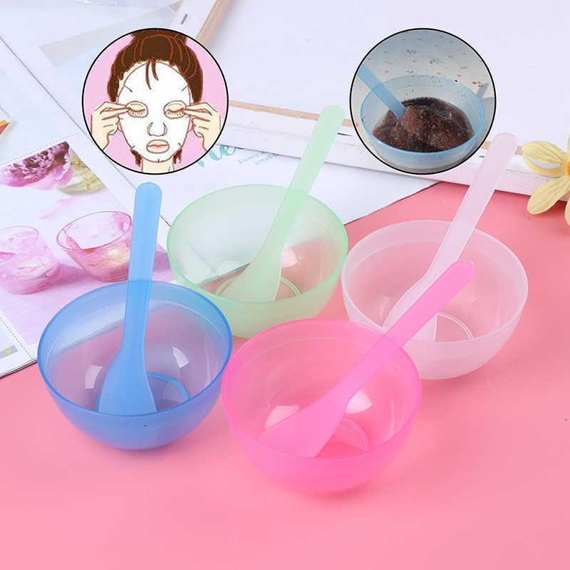 2 em 1 diy máscara facial tigela de mistura colher vara escova cuidados com o rosto conjunto beleza facial profissional kits ferramentas