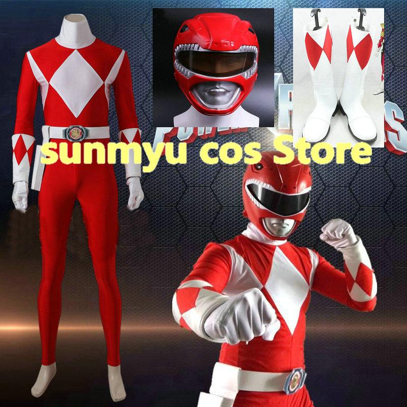 Zyuranger Geki Cosplay Tyranno Ranger Costume Jumpsuit All Size Halloween Outfit