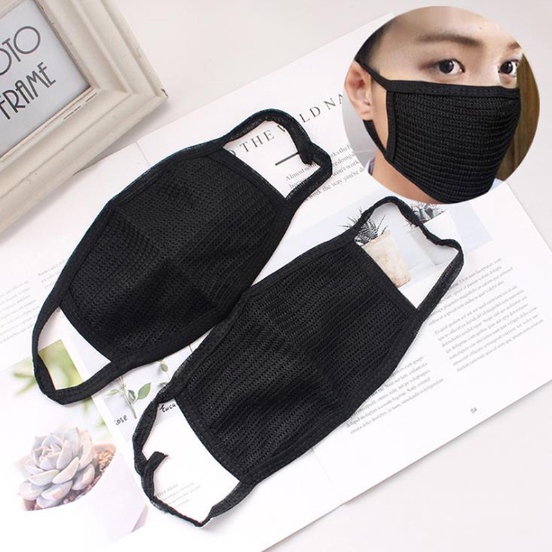 1Pc Cotton Mask Unisex Black Anti-dust Breathable Earloop Mouth Face Mask Warm Mask