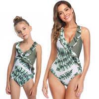 2020 neue Mutter Und Tochter Badeanzug Bikini Sommer Mama Und Mich Bademode Familie Passenden Kleidung Mom Tochter Badeanzug
