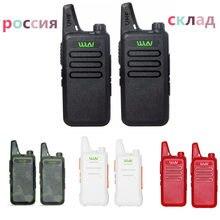 Mini transmissor fm portátil kdc1, 2 peças, kd c1, dois canais, comunicador, hf cb, estação de rádio mi-ni walkie talkie wln KD-C1