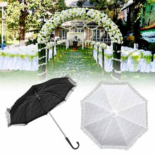 Fashion Flower Kids Girl Parasol Lace Umbrella Sun Umbrella Bridal Wedding Accessories Party Supplies Children Favors Gift