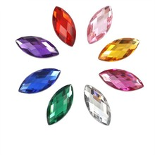 Crystals-Decoration-Accessories Stones Flatback Acrylic Colorful AB 50PCS Horse-Eye And