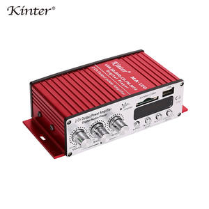 Image 5 - Kinter MA 120 Mini Amplifier audio 2.0CH 20W DC12V with USB SD FM play stereo sound supply power adapter in home car Motorcycle