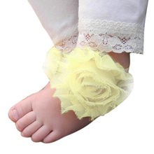 0-12Month Children Shoes Cute Accessories Foot Sock Baby Girl Hairband Flower Barefoot Foot Toe Blooms New Foot Accessories(China)