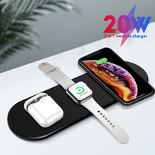 3 in 1 Wireless Charger for iPhone 11Pro XR XS MAX Dual Mobile Phone Charge 20W Fast Charger For Apple Watch 5 4 3 For Airpods