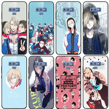 Tempered Glass untuk Samsung Galaxy S8 S9 S10 A6 A8 A9 A10 A20 A40 A50 A70 A80 Plus kartun Yuri On Ice Yuri Plisetsky(China)
