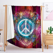New circular sleeping blanket cover travel flannel single double large customized bedding