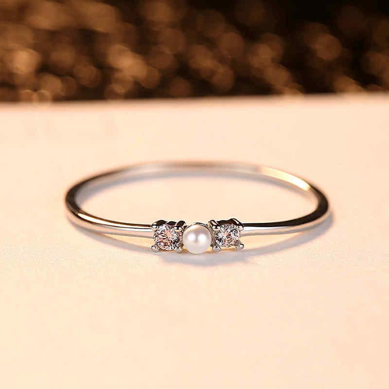 Moda mujer anillo Rosa oro platino anillo exquisito circón anillo colorido decoración compromiso boda damas joyería