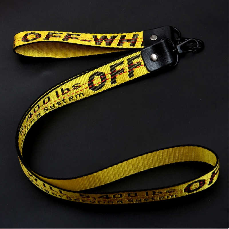 من أجل أوف وايت طويل النيوبرين مضفر الرقبة/ريسيت/الكتف حزام الحبل للكاميرا/الهاتف/ظهره مع معدن الإفراج السريع مشبك