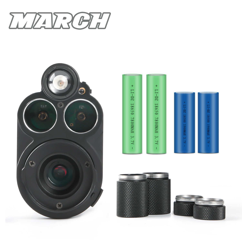 MARZO NV310 Digitale WiFi Portata Add On Collegare Scout Monoculare di Caccia Della Macchina Fotografica di Visione Notturna Rosso del puntino di Vista di Visione Notturna di IR ottica