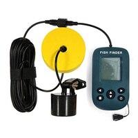 Portable Wireless Fish Finder Echo Sounder Fishing Depth Sounder Sonar Sounder Range Alarm Transducer Fish Finder|Fish Finders| |  -