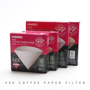 Japan Imported Hario V60 Filter Coffee 01 02 Count Espresso Coffee Natural Paper Filters for 4 Cups Barista Drip Coffee Filter(China)