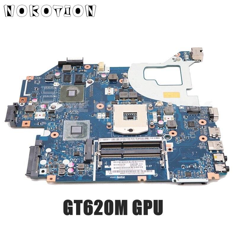 NOKOTION For Acer Aspire V3-571G V3-571G Laptop Motherboard NBY1711001 NB.Y1711.001 Q5WVH LA-7912P HM77 DDR3 GT620M 1GB