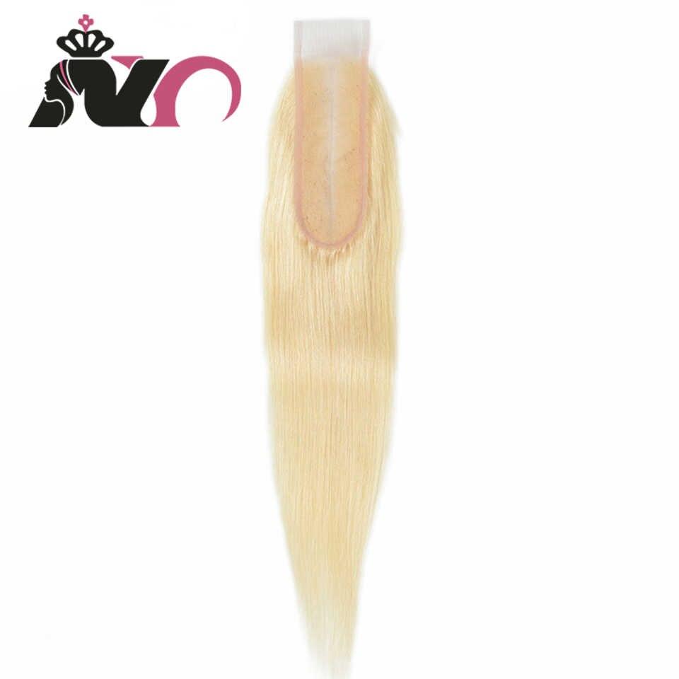 NY 613 uzupełnienie włosów typu Remy prosto brazylijski blond 613 zamknięcie włosów 2*6 zamknięcie koronki z dzieckiem włosy dla czarnych kobiet 10-16 Cal