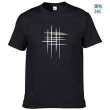 2020 Semplice Creativa Linea di Disegno Croce di Stampa Del Cotone T Camicette Dei Nuovi Uomini di Arrivo di Tenuta di Sti