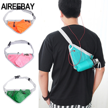 AIREEBAY Running Waist Bag For Phone Sports Fanny Pack Man Fitness Waist Pack with Water Bottle Travel Chest Bag