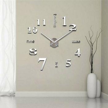 لتقوم بها بنفسك ثلاثية الأبعاد سطح مرآة عدد كبير ساعة حائط ملصق لتزيين المنزل مرآة غرفة المعيشة تصميم الفن الكبير ساعة حائط