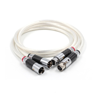 Pair Hifi XLR Cable Pure 7N OCC Silver plated Audio Cable With Top Grade Carbon fiber XLR Plug