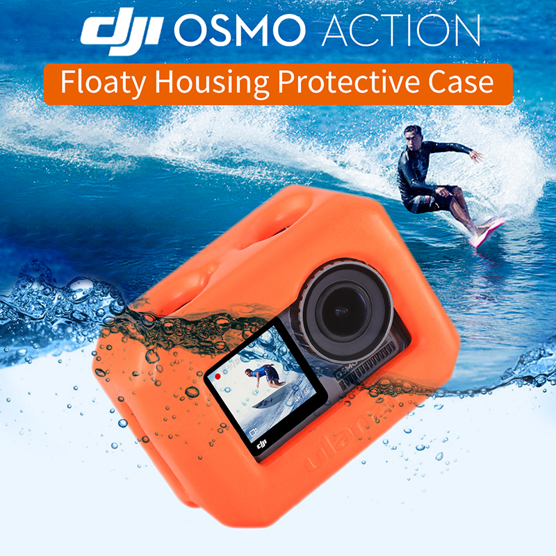 Ulanzi Soft Floaty Case For Dji Osmo Action Camera Floating Venture Shell Housing For Skating Surfing