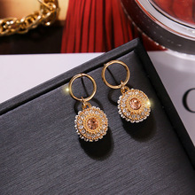 Baroque  Crystal Flash retro drop earrings fashion jewelry boho korean crystal bohemian rhinestone