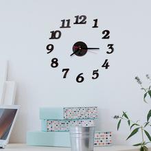 Nowy nowoczesny skandynawski 3D DIY duży zegar ścienny nowoczesny Design wyciszenie zegara dekoracja wnętrz salon akrylowa ściana lustrzana zegar tanie tanio Nowoczesne circular Akrylowe Pojedyncze twarzy QUARTZ Zegary ścienne 9mm blachy Streszczenie Wielu częściowy zestaw Igła