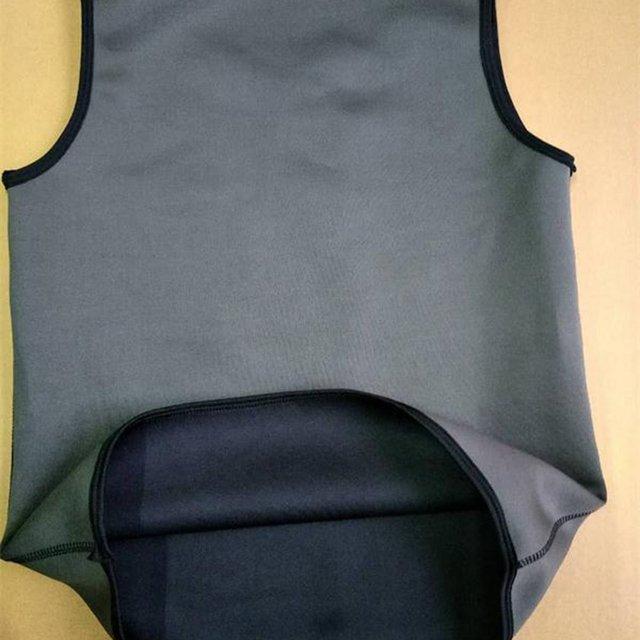 Hot sale Sweat Sauna Body Shaper Men Vest Thermo Neoprene Trainer Sliming Waist Belt Durable And Comfortable Vest 2