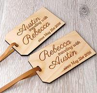 Holz gepäck tags, personalisierte holz tags, hochzeit geschenk idee, reise tags, koffer tag