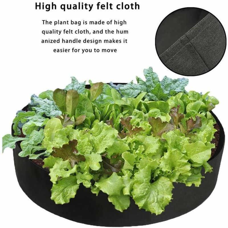 ผ้า Plant Grow ถุงผ้าไม่ทอยกเตียงสวนปลูกคอนเทนเนอร์ Grow ถุงผ้าหม้อ Plants หม้อ