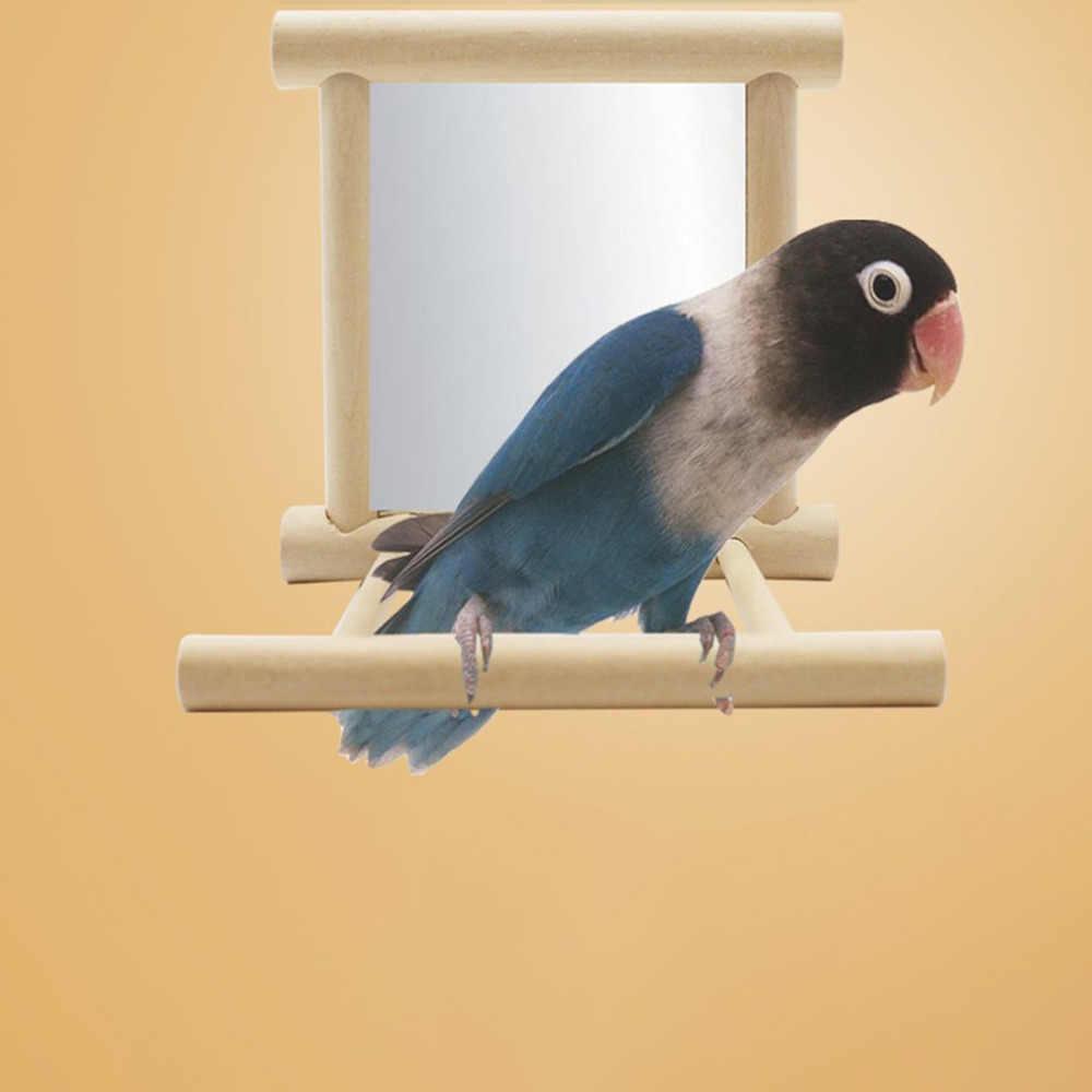 น้ำหนักเบา BIRD Station ชั้นวางกระจกของเล่นแบบพกพาสนับสนุน Birdcage ยืนอุปกรณ์นก