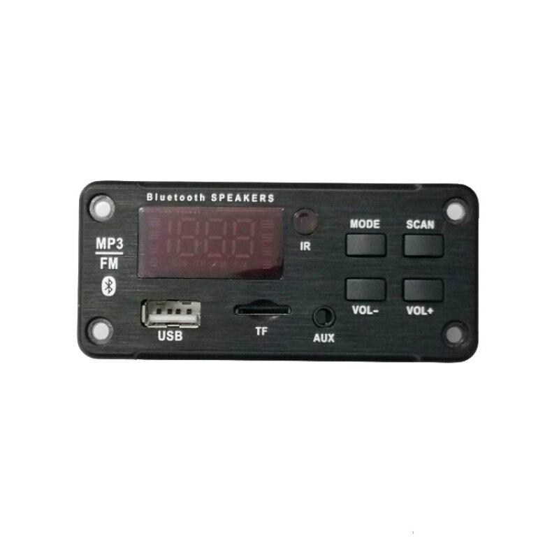 Bluetooth беспроводная Плата декодера 12 В, автомобильный Bluetooth MP3 WMA USB/SD/FM/AUX аудио модуль, цветной экран, автомобильный MP3 динамик
