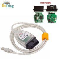 MINI VCI para toyota Cable soporte para Toyota es OEM Software de diagnóstico J2534 MINI VCI FT232RL FT232RQ Chip