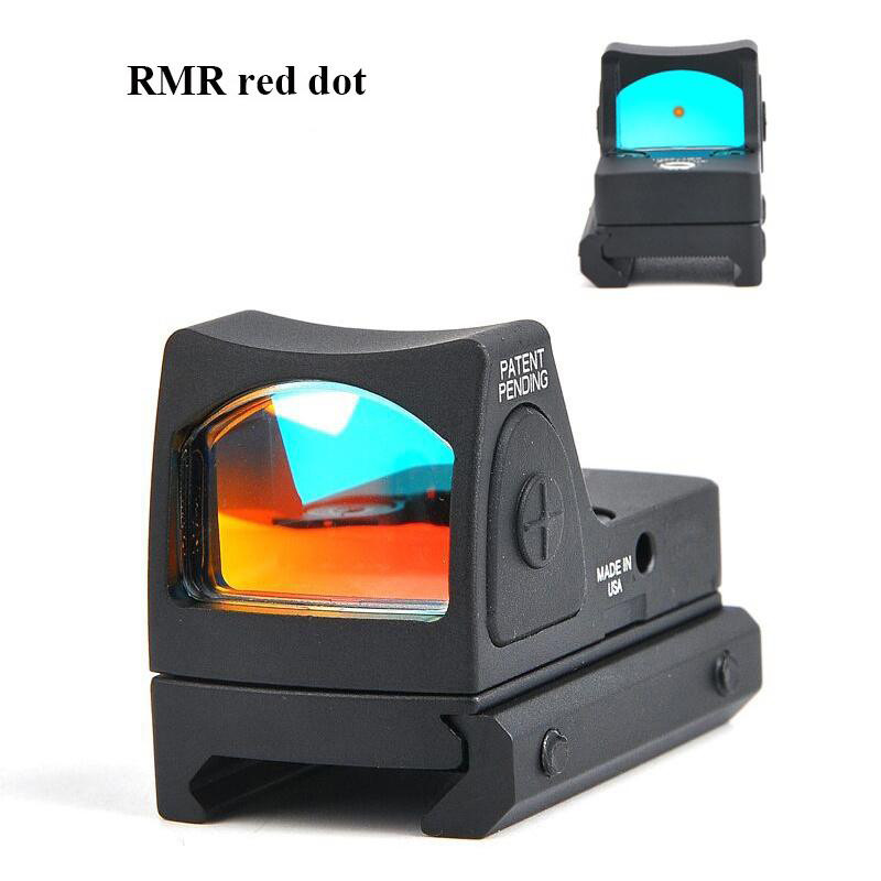 RMR Reflex Adjustable Red Dot Sight 3.25 MOA Dot Holographic Sight Scope Tactical Red Green Sight Outdoor Sight Brightness