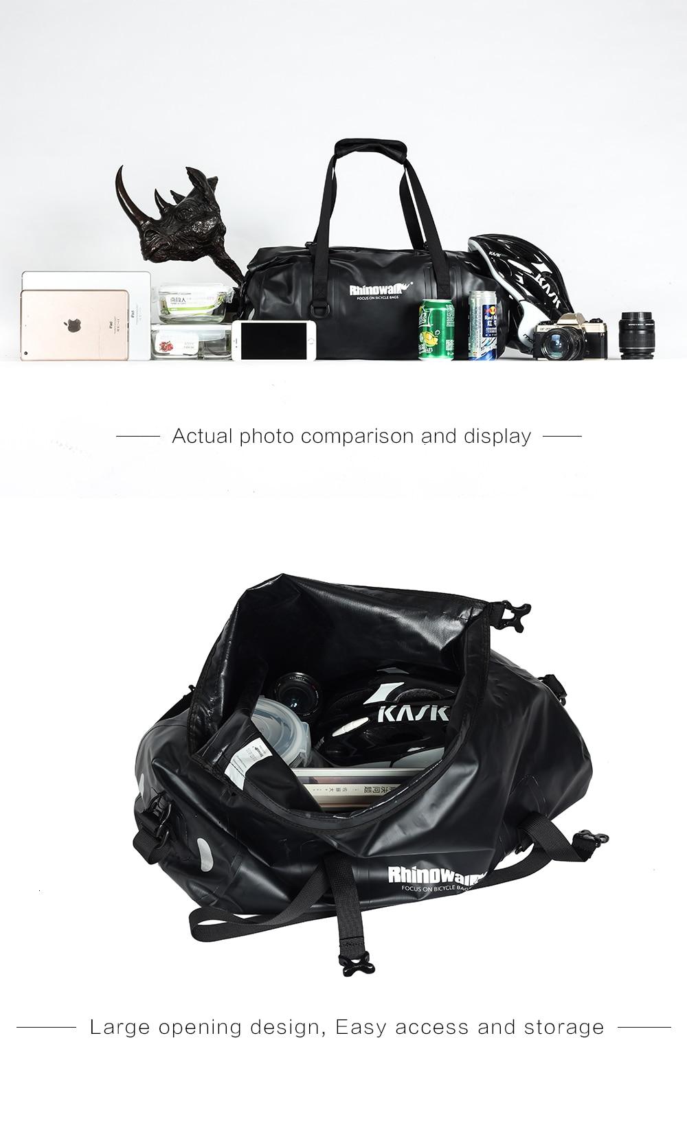 Rhinowalk Bicycle Luggage Bags 20L Full Waterproof for Road Bike Rear Rack Trunk Cycling Saddle Storage Pannier Multi Travel Bag (6)