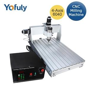 Image 1 - Fresadora CNC 6040 de 3 ejes y 4 ejes 2,2 kW, fresadora CNC, máquina de tallado de madera, USB Mach3, Control de carpintería