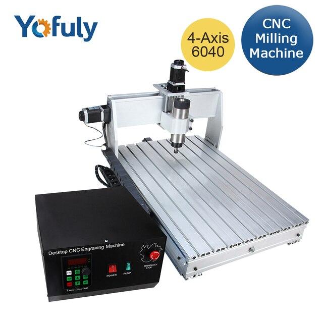 Fresadora CNC 6040 de 3 ejes y 4 ejes 2,2 kW, fresadora CNC, máquina de tallado de madera, USB Mach3, Control de carpintería