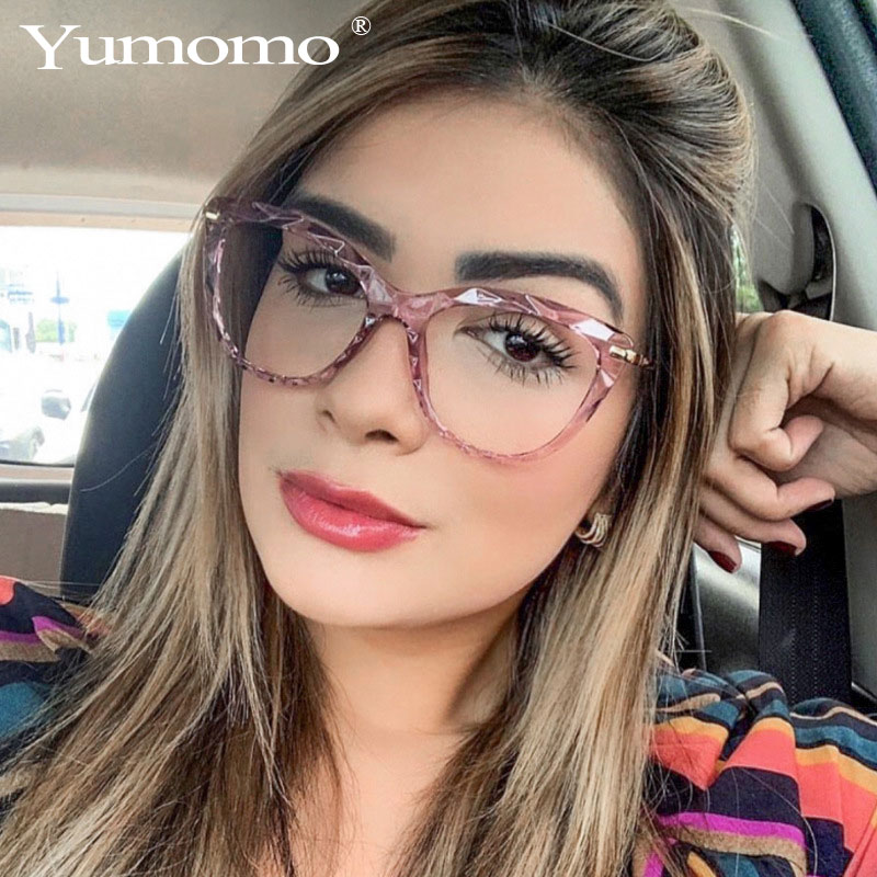 Free Ship Lady Cat Eye Glasses Frames For Women Sexy Oversized Metal Frame Brand Designer Optical EyeGlasses Fashion Eyewear