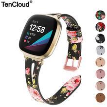 Wrist Strap For Fitbit Versa 3 Watch Band For Fitbit Sense Bracelet Genuine Leather Band Women Lady Belt Smart Watch Accessories