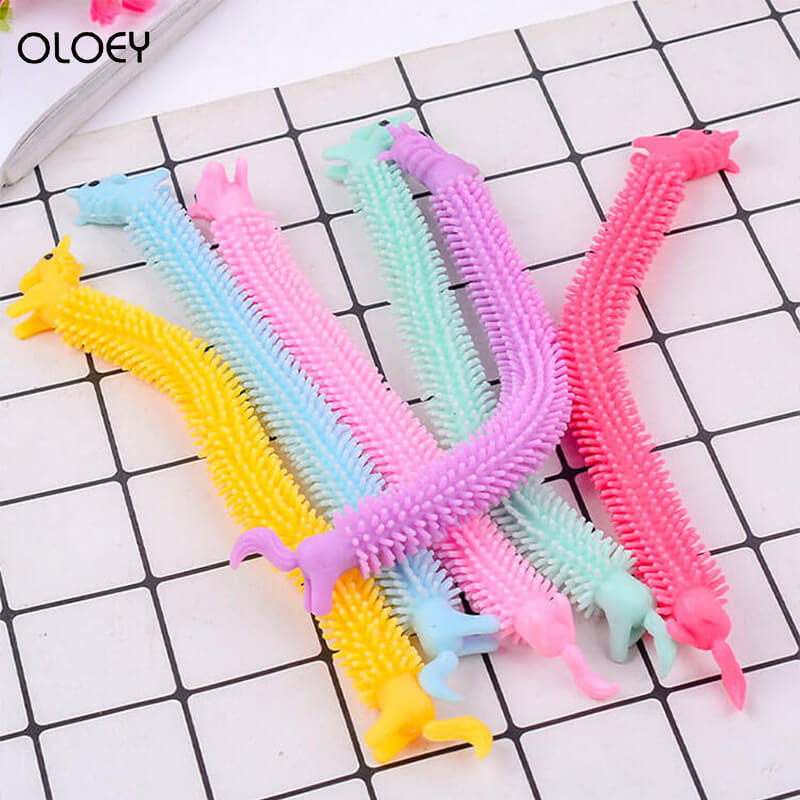 Stress Toy Fidget-Toys Unicorn Noodles Like Popit Simple Dimple 19CM Fitness-Tools Functions img3