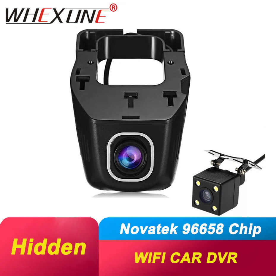 WHEXUNE Verborgen Mini Wifi Auto Dvr camera Dual Lens dashcam Auto Video Recorder Registrator Dvr Dash Cams FHD 1080P nachtzicht