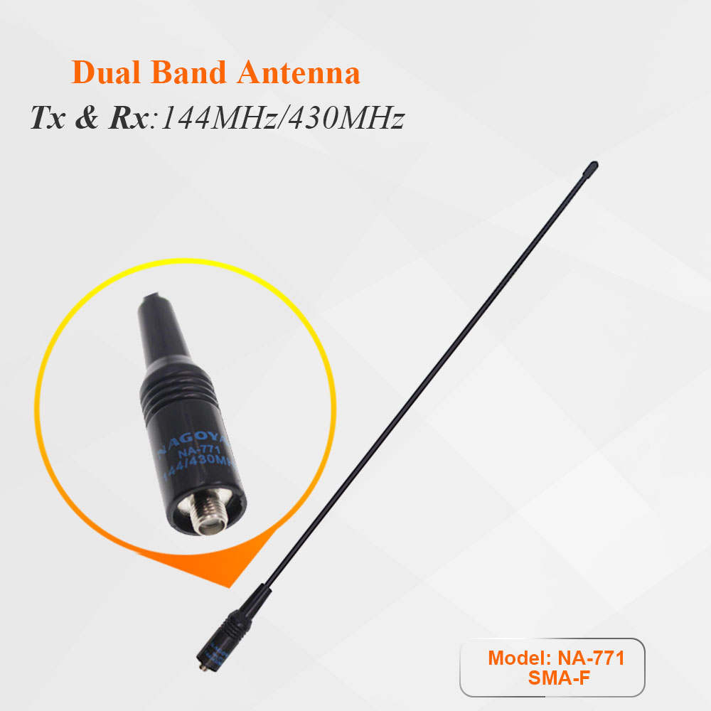 NA-771 NA771 SMA-F SMA Female Dual Wide Band Flexible Antenna VHF/UHF 144/430MHz Two Way Radio For BAOFENG UV-5R BF-888S