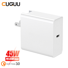 45W Quick Charge Type C PD QC 3.0 USB Charger For iPhone Macbook For Samsung Xiaomi Switch Fast Wall Charger US EU UK AU Adapter tronsmart 2ports 42w usb pd type c charger white gray uk