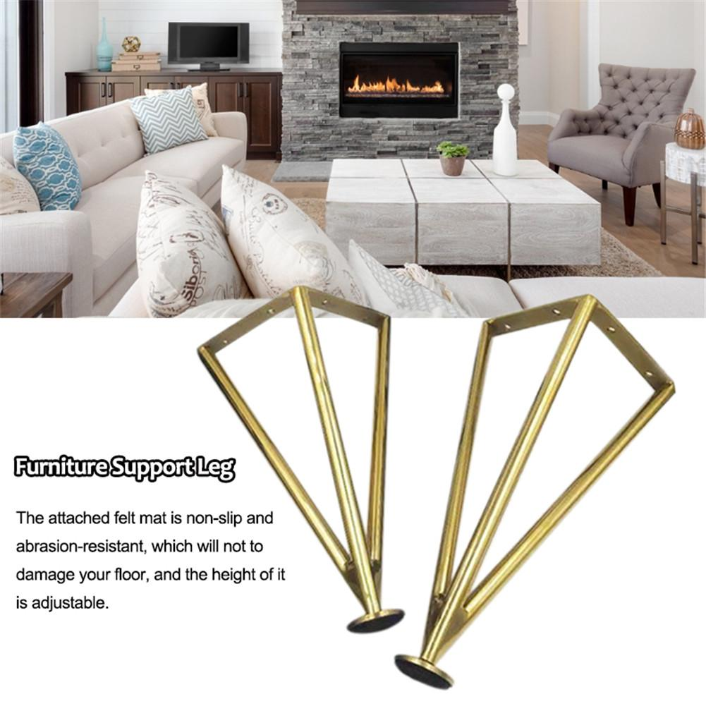 Stainless Steel Bathroom Cabinet Legs 25cm 30cm Coffee Table Furniture Legs Bench Sofa Desk Support Legs Plated Home Accessories